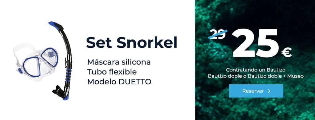 oferta set snorkel mascara silicona tubo flexible