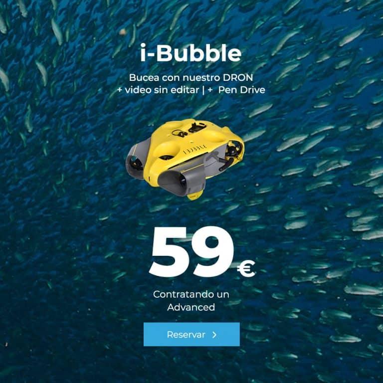 oferta i bubble bucea con nuestro dron