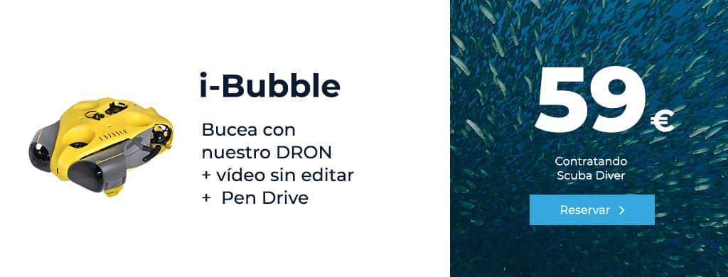 oferta i-bubble bucea con nuestro dron