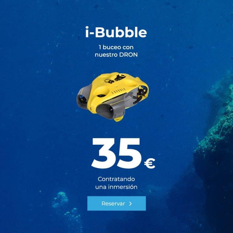 ibubble buceo con dron amarillo lanzarote