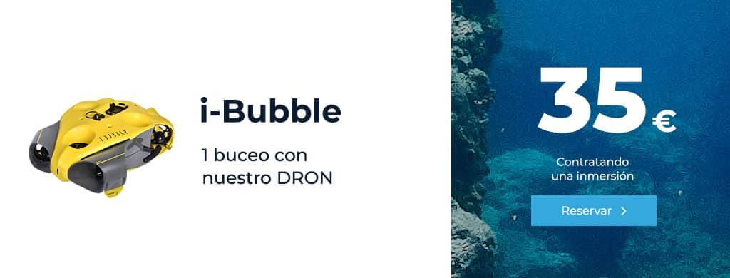 oferta ibubble buceo con nuestro dron inmersion