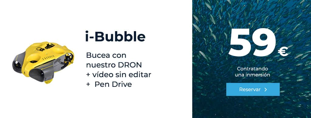 oferta ibubble bucea con nuestro dron inmersion