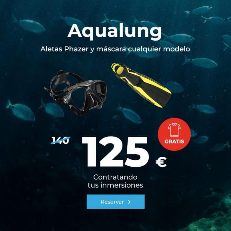oferta aqualung aletas phazer y mascara