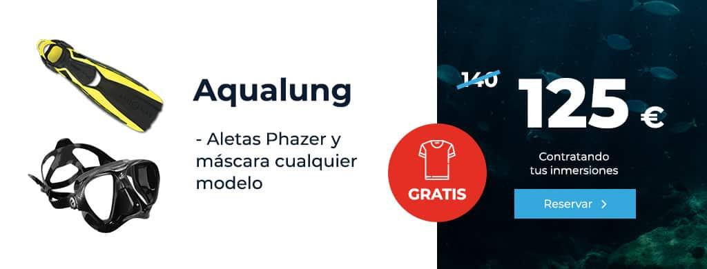 oferta aqualung aletas phazer y mascara inmersion