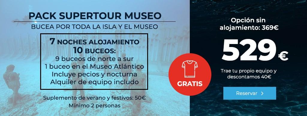 oferta lanzarote mojo dive pack supertour museo