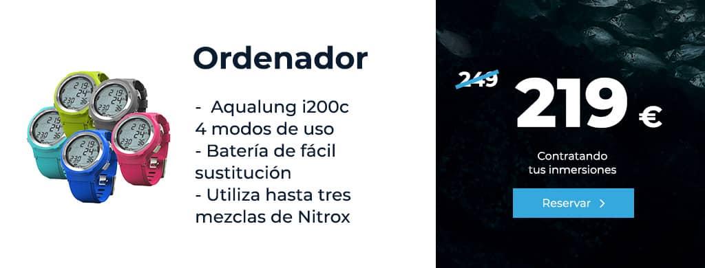oferta ordenador aqualung i200c 4 modos de uso lanzarote